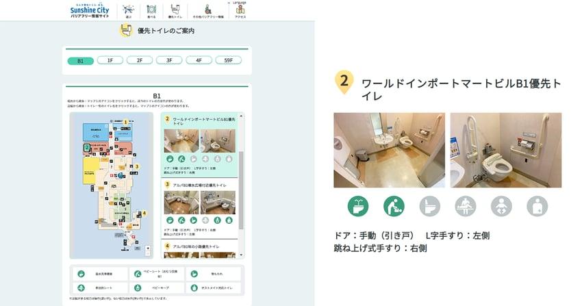バリアフリー情報サイト トイレマップ画像