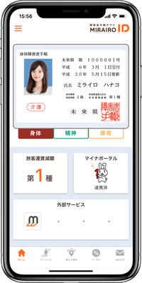 画像 ミライロIDの画面