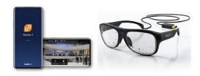 【イメージ画像】左にスマートフォン、右にメガネの写真