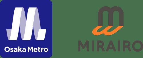 【ロゴマーク】左が大阪メトロ、右がミライロ