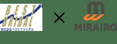 ベストブライダルとミライロのロゴマーク