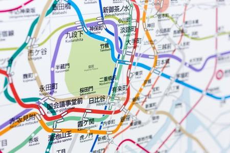 電車の路線図