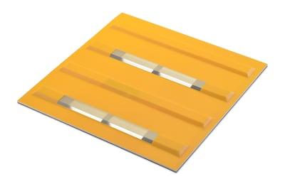【画像】薄型ソーラービーコン内蔵点字ブロック