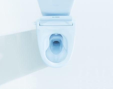 写真 オストメイト対応便座を取り付けたトイレ