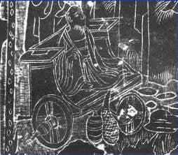 【画像】西暦500年頃の中国にあった車輪のついた椅子の絵