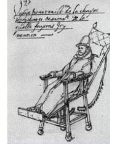 【画像】1500年代の車輪のついた椅子の絵
