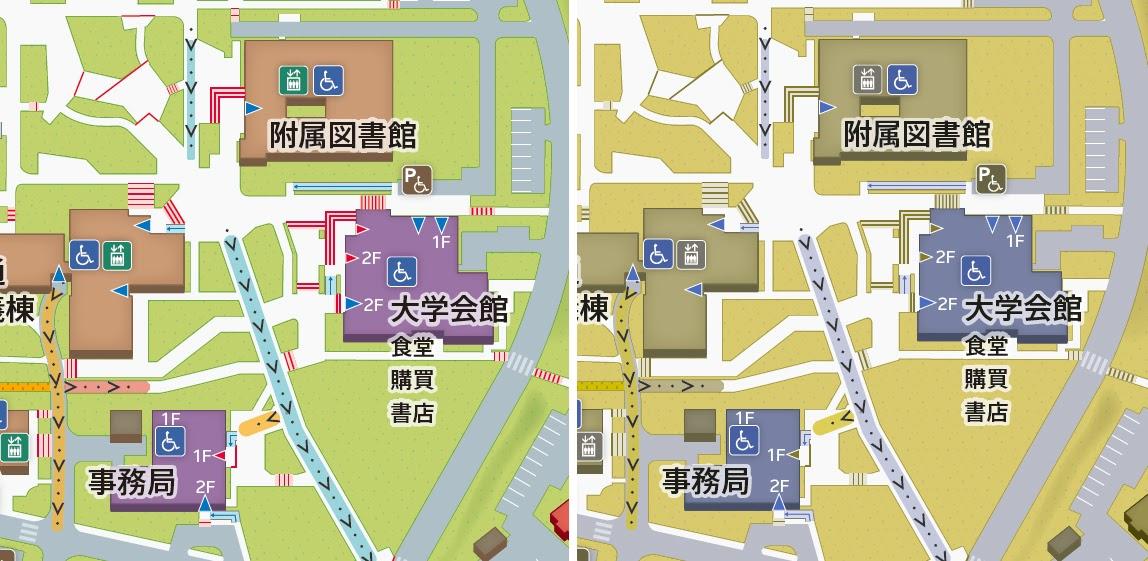 画像 カラーユニバーサルデザインに配慮した地図